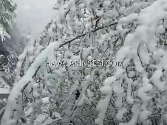 Zonguldak yükseklerinde kar